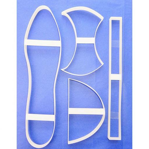 Designerart Cakes Shoe Cutters - 4 piece set