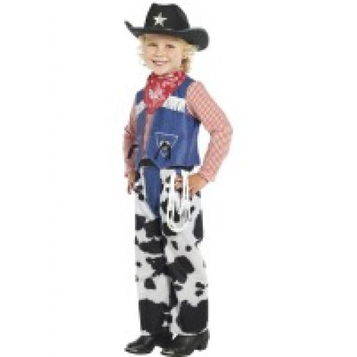Ropin Cowboy Costume Top Pants Bandanna Hat