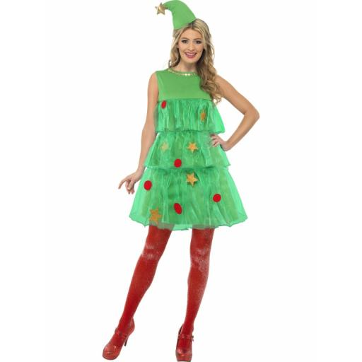 Christmas Tree Tutu Costume with Dress & Hat