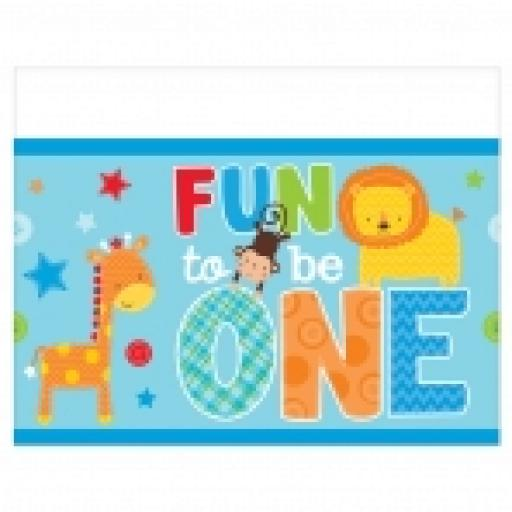 One Wild Boy Plastic Tablecover 54x102inch