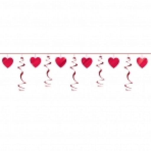 Heart Swirl Garland - 3.65m