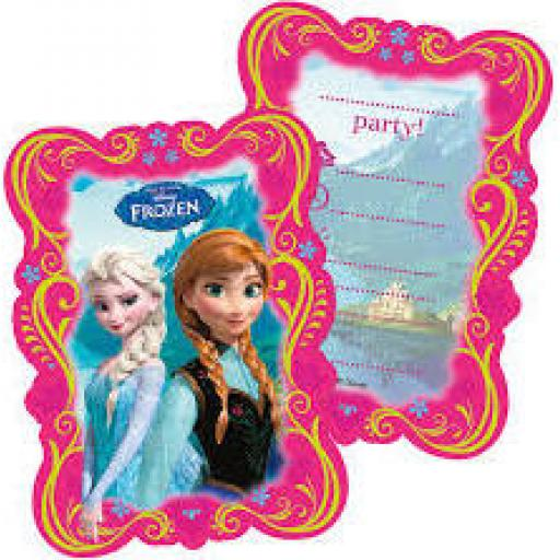 Frozen invitations & envelop