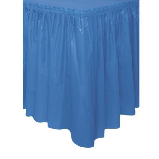 Plastic Royal Blue Table Skirt 73cm x 426cm
