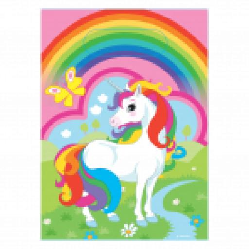 Unicorn Plastic Party Bags 8ct