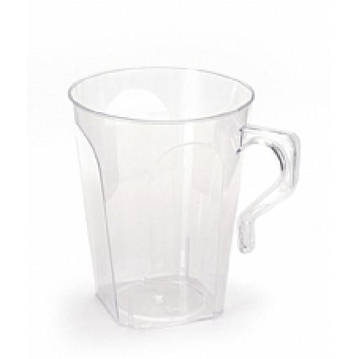 Clear Plastic Coffee Mugs 8 pcs 8.5oz