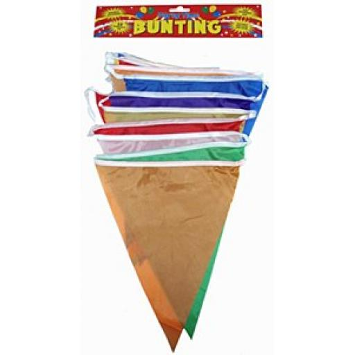 Rainbow Nylon Bunting 25 Pennants 7m