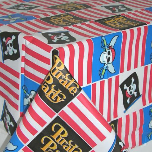 Pirate Party Plastic Tablecover 54x102 inch