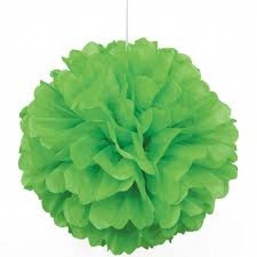 Paper Puff Ball 16inch Lime Green