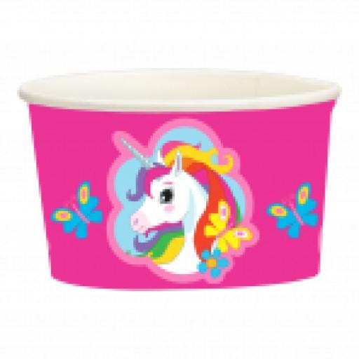 Unicorn Paper Treat/Ice Cream Cups 251ml