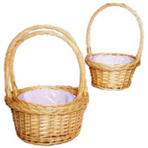 1 Round Brown Basket with Handle