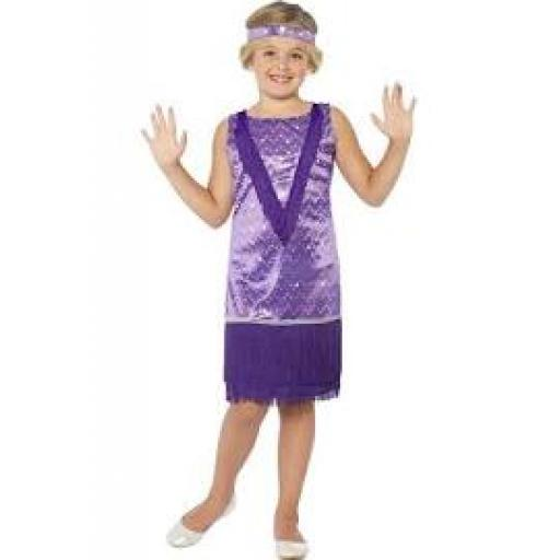 Tallulah Flapper Girl Dress with Headpiece