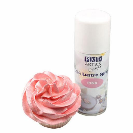 PME Pink Edible Lustre Spray 100ml