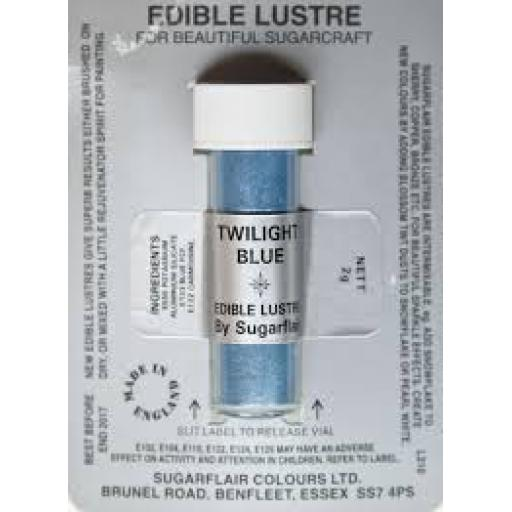 Sugarflair Edible Lustre-Twilight Blue 2g