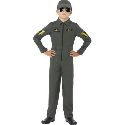 Aviator Jumpsuit with attached belt & hat