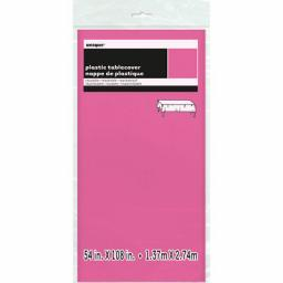 Plastic Tablecover Hot Pink Oblong 54x108 inch
