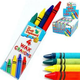 4 Wax Crayons 29p or 4 For £1 Party Bag Filler