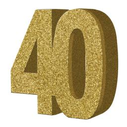 Gold Glitter Number Table Decoration - Age 40