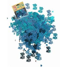 Its a boy blue metallic baby shower confetti 14g
