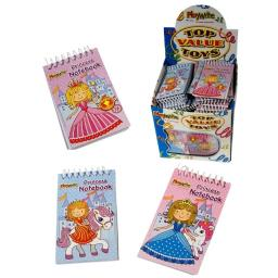 Princess Mini Spiral Notebooks 4 For £1 Party Bag Fillers