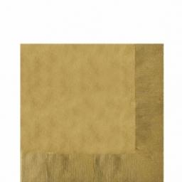 20 Gold Luncheon Napkins 2ply/33cm