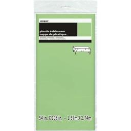 Plastic Tablecover Apple Green Oblong 54x108 inch