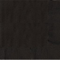 20 Jet Black Dinner Napkins 2ply/40cm