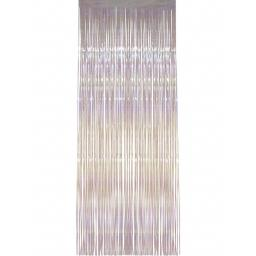 Iridescent Foil Shimmer Door Curtain 92cm x 244cm