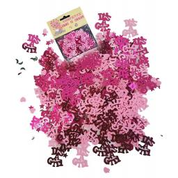 Its a girl pink metallic baby shower confetti 14g