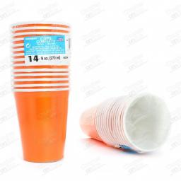 14 Pumpkin Orange Paper Party Cups 9oz
