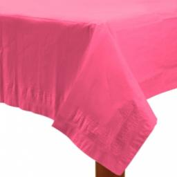 Bright Pink Paper Tablecover 1.37m x 2.74m