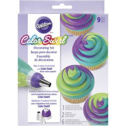 Wilton Color Swirl 3 Colour Coupler Decorating Set 9pcs