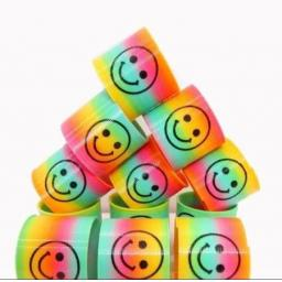 Rainbow Mini Spring with Smiley Face 39p 3 For £1