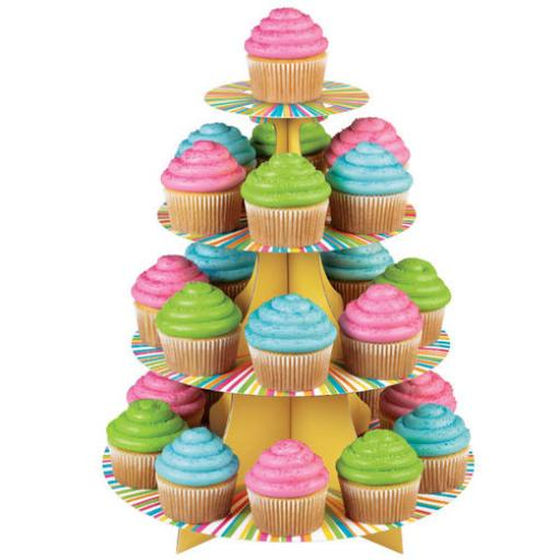 Wilton Colour Wheel Treat Stand Holds 25 Cupcakes