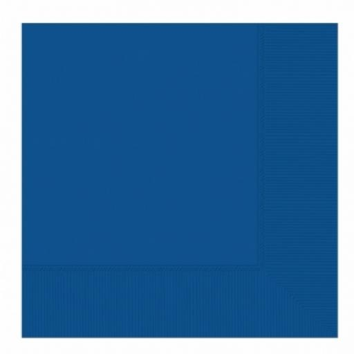 20 Bright Royal Blue Luncheon Napkins 2ply/33cm