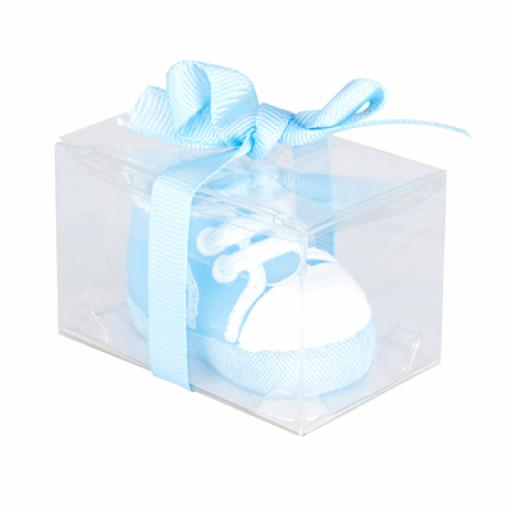 Baby Shower Candle Baby Trainer 55 x 33 x 33mm Blue