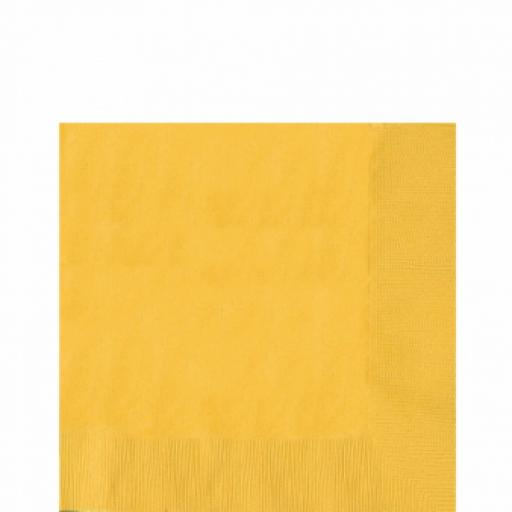 20 Sunflower Yellow Luncheon Napkins 2ply/33cm