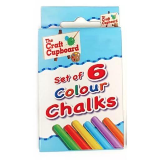 Set of 6 Coloured Chalks 3 For £1 Party Bag Filler