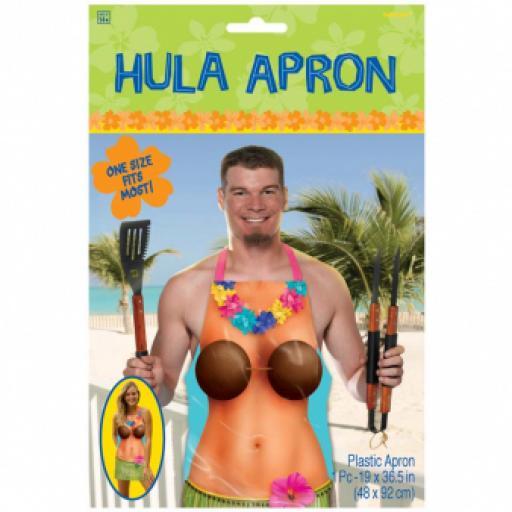 Hawaiian Girl Apron Plastic One Size