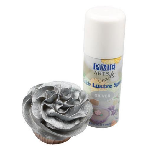 PME Silver Edible Lustre Spray 100ml