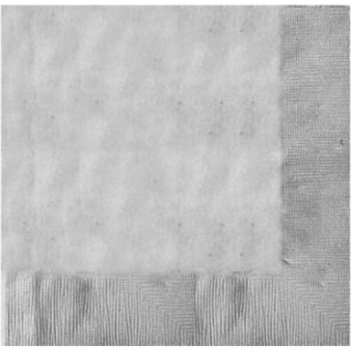 20 Silver Luncheon Napkins 2ply/33cm