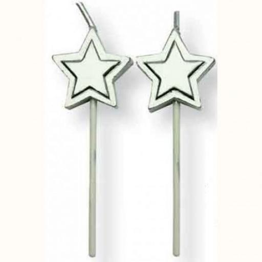 PME 8 Silver Star Candles