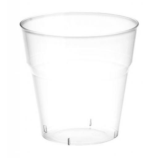 40pcs Tumbler Crystal Clear 8oz Rigid Plastic