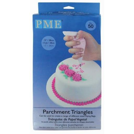 """PME 15""""Parchment Triangles for Piping Bags /50pcs"""