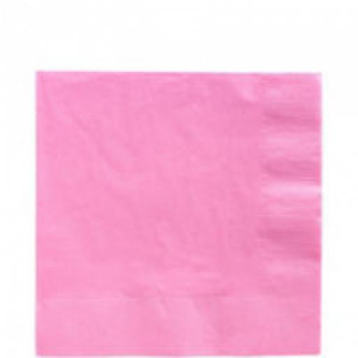 20 Pink Luncheon Napkins 2ply/33cm