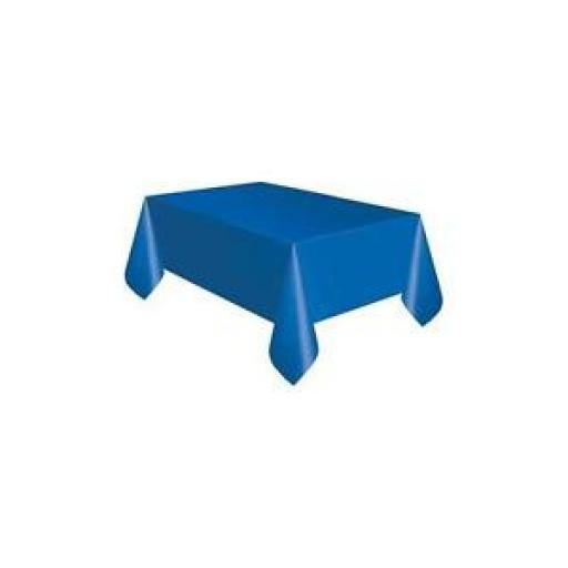 Plastic Tablecover Royal Blue Oblong 54x108 inch
