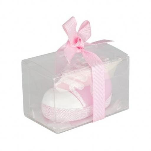 Baby Shower Candle Baby Trainer 55 x 33 x 33mm Pink