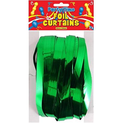 Grass Green Foil Shimmer Door Curtain 92cm x 244cm