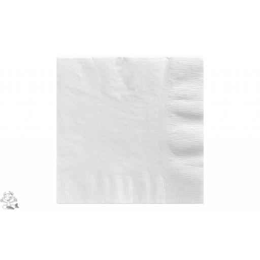 20 White Luncheon Napkins 2ply/33cm