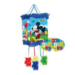 Mickey Mouse String Pull Pinata + Blindfold