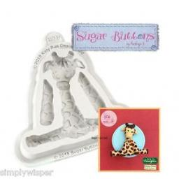Giraffe Silicone Mould-Sugar Buttons
